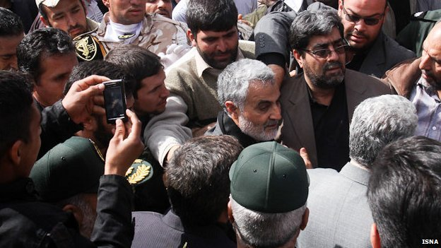 Brig Gen Qasem Soleimani pictured at funeral in Iran