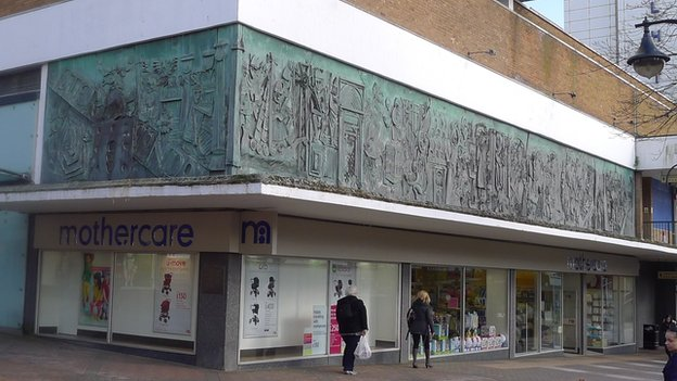William Mitchell bronze relief sculpture in Bracknell