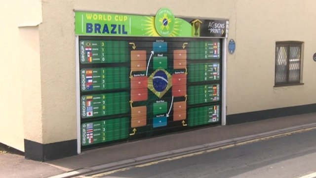 Honiton's huge World Cup wall chart