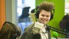 School Reporters wearing headphones