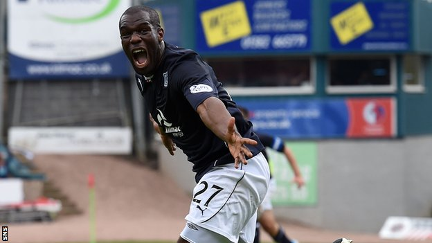 Christian Nade during his spell with Dundee