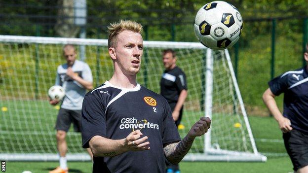 Motherwell defender Craig Reid