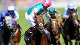 Kingman jockey James Doyle looks around at his beaten rivals