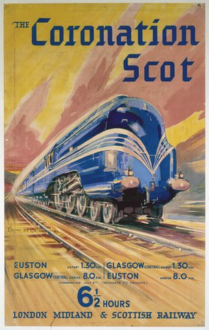 Coronation Scot poster in 1937