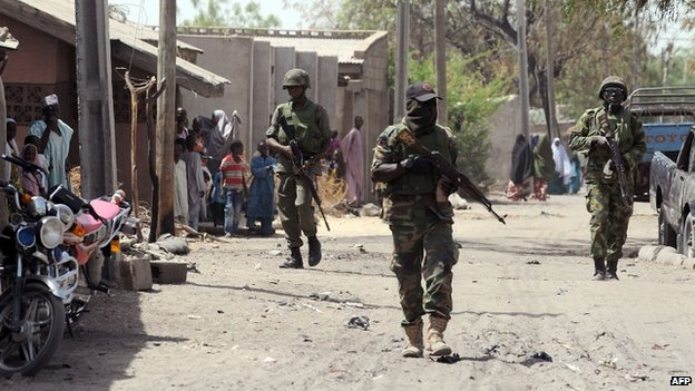 Troops in northern Nigeria
