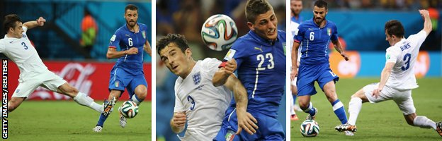 Leighton Baines in action against Italy