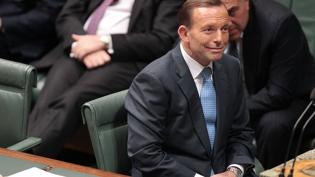 Prime Minister Tony Abbott during the house of representatives Question time on 17 June, 2014 in Canberra, Australia