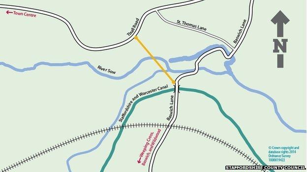 Map of bridge route