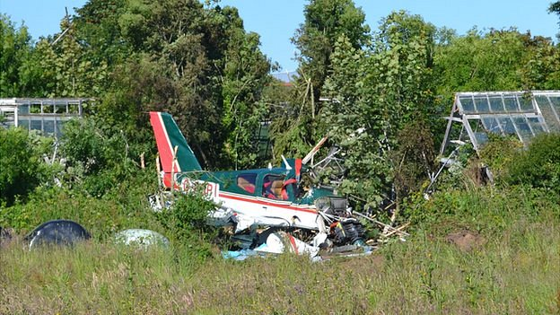 Plane in field off Forest Road, Guernsey