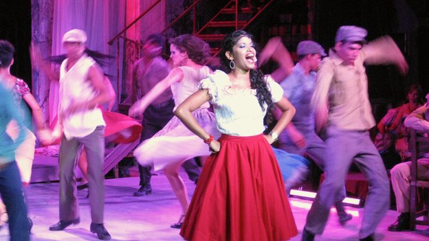 The cast of Carmen Jones in Havana in June 2014