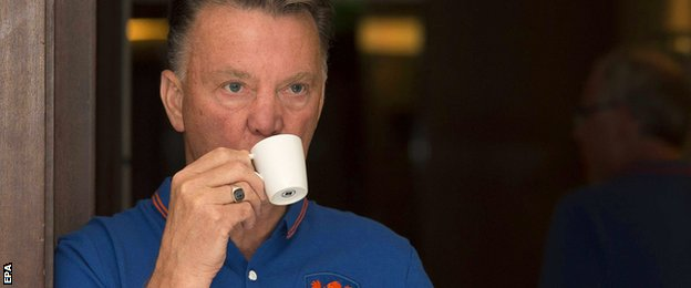 Manchester United's new manager Louis van Gaal