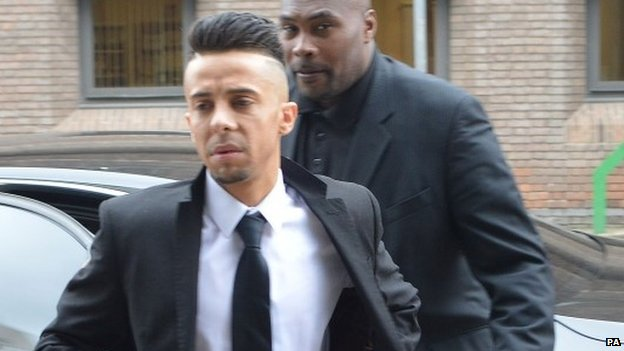 Dappy outside Chelmsford Crown Court