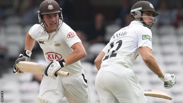 Rory Burns and Zafar Ansari