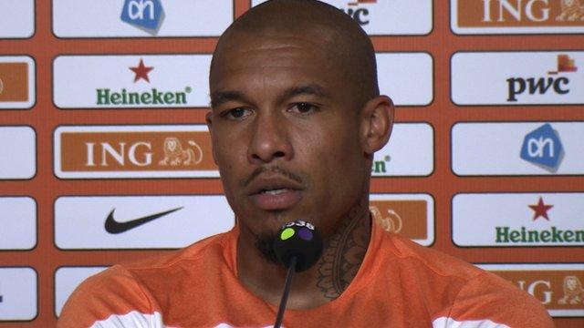 Netherlands midfielder Nigel de Jong