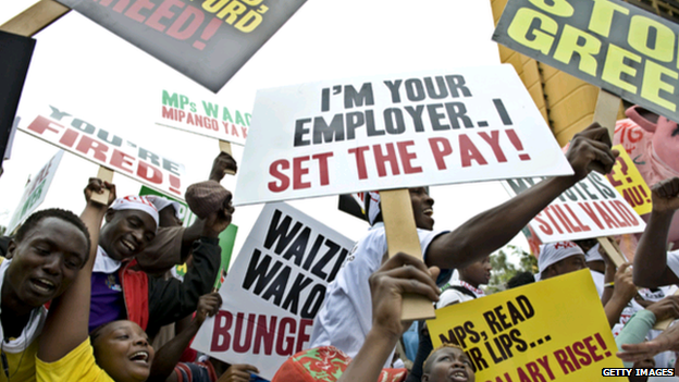 2013 protest against MP's pay