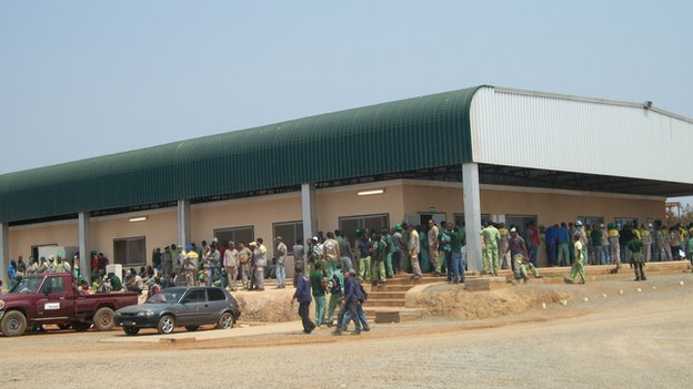 Workers' canteen at the biofuel plant