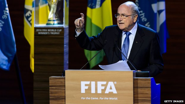 Sepp Blatter at the Fifa congress, 2014