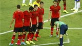 Vanishing spray in use at the World Cup