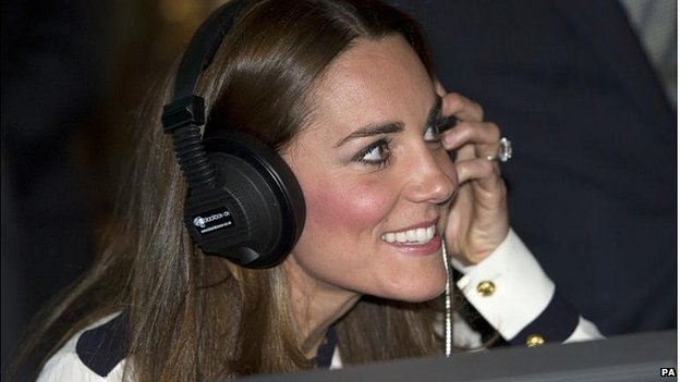 "The Duchess of Cambridge ""listens in on the enemy"" during a visit to Bletchley Park"