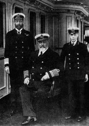 George V, Edward VII and Edward VIII