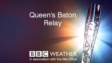 Queen's Baton Relay weather