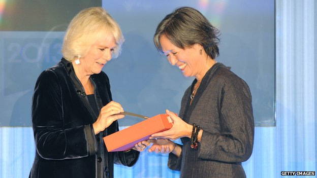 Ruth Ozeki, shown with Camilla, Duchess of Cornwall