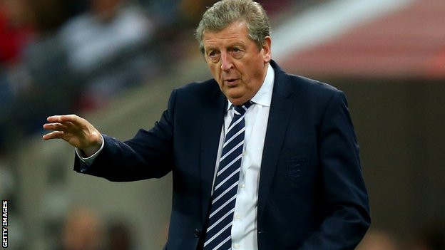 Roy Hodgson shouts out instructions to his England side
