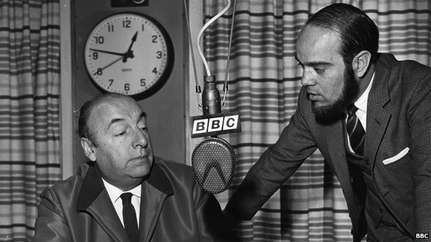 Pablo Neruda before being interviewed for the BBC Latin American Service. 10/10/1965