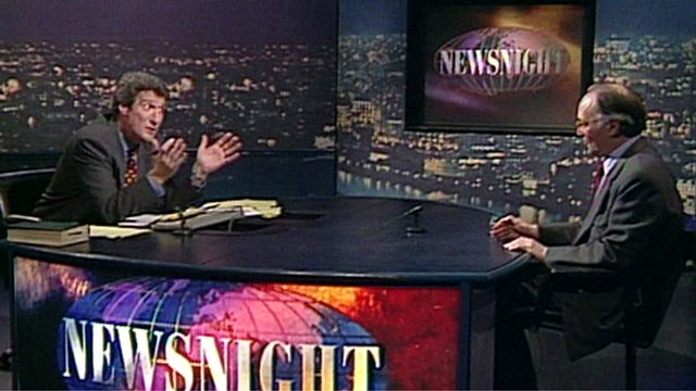 Jeremy Paxman and Michael Howard in 1997