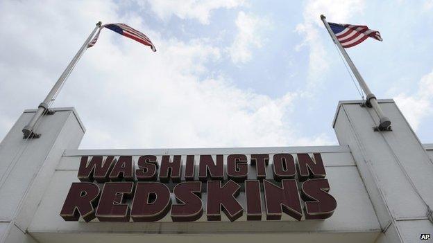 Washington Redskins sign