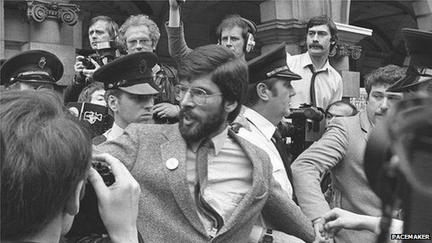 Gerry Adams after being elected