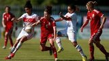 Wales Women in action against Turkey Women
