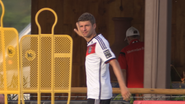 Thomas Muller off target in training