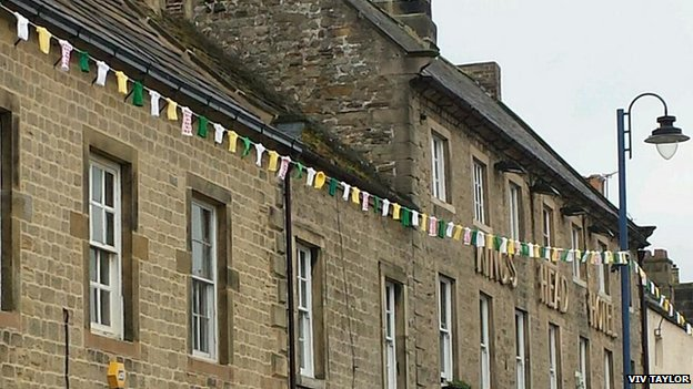 Bunting in Masham, North Yorkshire
