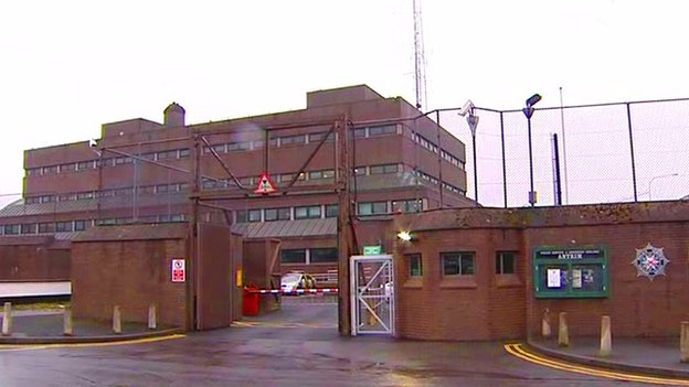 The pensioner is being questioned at Antrim police station