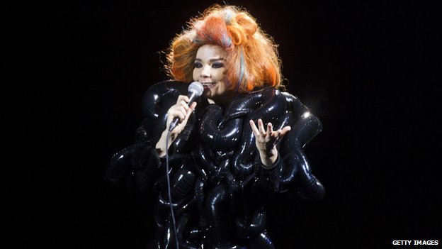 Bjork at the 2012 Roskilde Festival