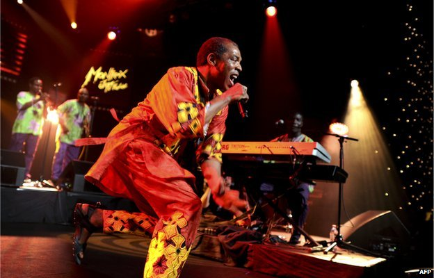 Femi Kuti, Nigerian musician and son of late Afrobeat icon Fela Kuti, performs during the 45th Montreux Jazz Festival on 14 July 2011