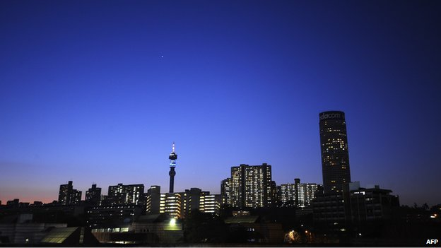 Johannesburg skyline (12 June 2010)