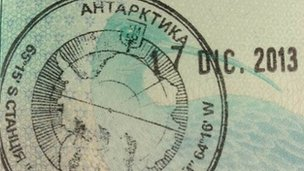Antarctic stamp from Ukrainian government
