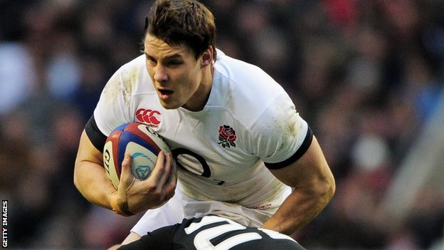 Joel Tomkins playing for England