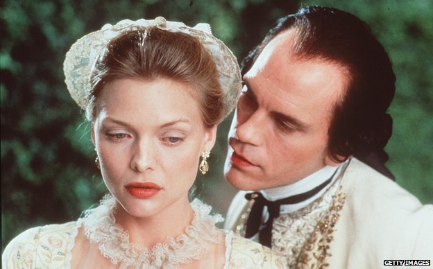 Michelle Pfeiffer and John Malkovich in Dangerous Liaisons