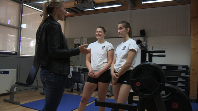 Olympic champion Anna Watkins visits Mossbourne Community Academy