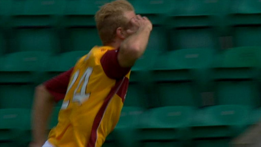 Henri Anier salutes after scoring for Motherwell