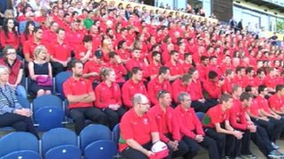 Team Wales members took part in an official send-off at the Swalec Stadium in Cardiff