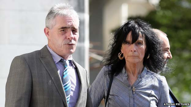 MNS Mining directors Gerald Ward and Maria Seage leaving court on Thursday