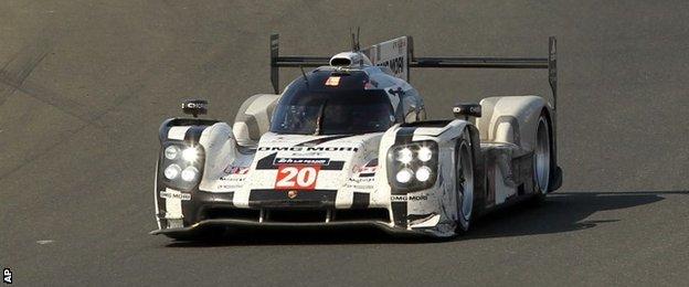 Mark Webber at Le Mans