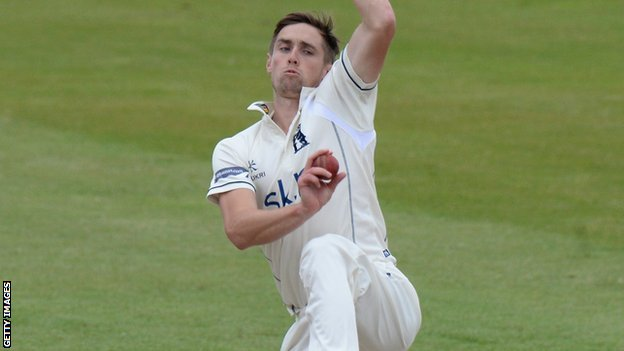 Warwickshire and England fast bowler Chris Woakes