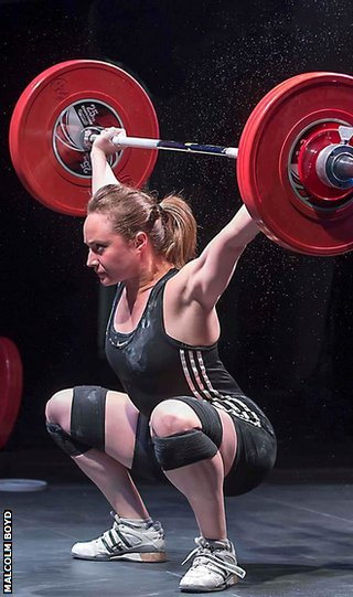 Louise Mather in action at the British Championships