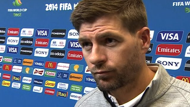 England's Steven Gerrard after their 2-1 defeat to Uruguay