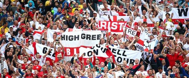 World Cup: Uruguay v England - England fans